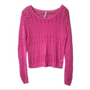 AEROPOSTALE Hollowed Out Crochet Knit Sweater
